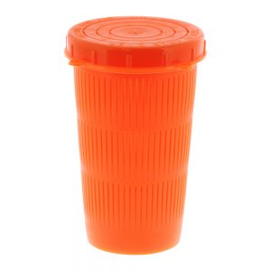 677 Fluorescent Red Litre, Vented Bait Jar with quick lock threaded lid